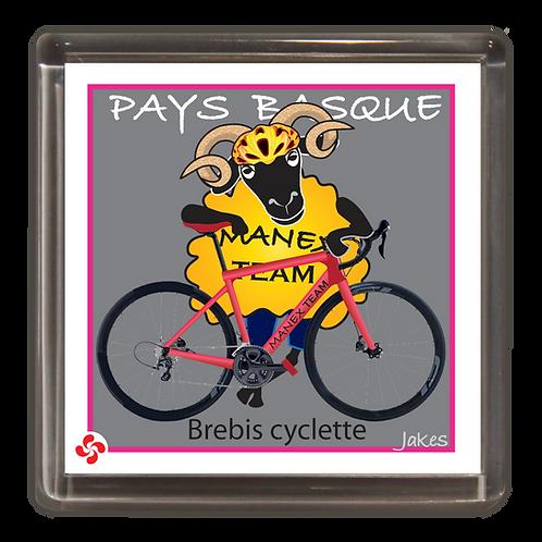 """Brebis cyclette"" maillot jaune Magnet"
