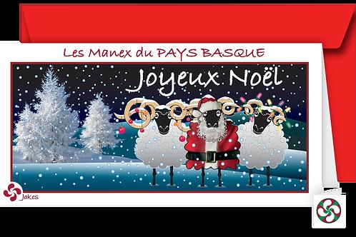 """""""Joyeux Noël"""" Carte panoramique"""