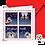 "Thumbnail: ""Joyeux Noël/4 cases"" Carte carrée"