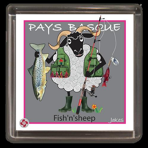 """Fish'n'sheep"" Magnet"