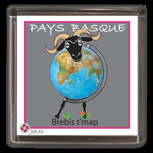 """Brebis t'map"" Magnet"