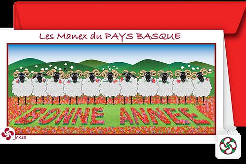 """""""Bonne Année"""" Carte panoramique"""