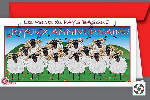 """""""Bon Anniversaire"""" Carte panoramique"""