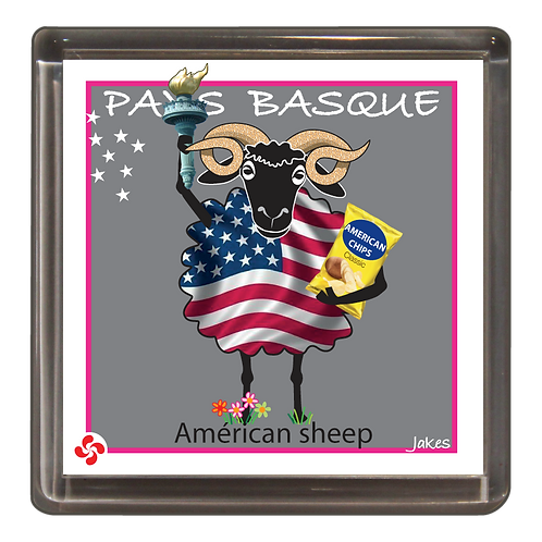 """American sheep"" Magnet"