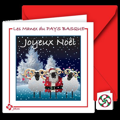 """Joyeux Noël"" Carte carrée"