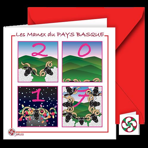 """2017"" Carte carrée"