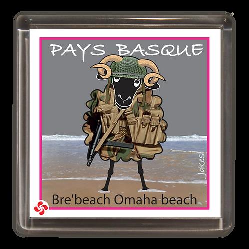"""""""Bre'beach Omaha beach"""" .............. Magnet"""