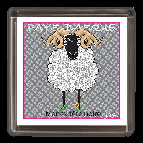 """""""Manex Tête Noire"""" Magnet"""
