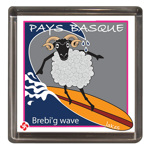 """Brebi'g wave"" Magnet"