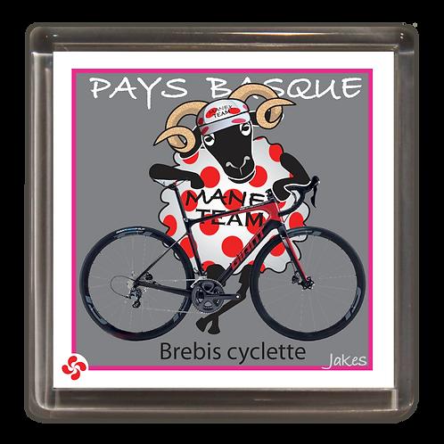 """""""Brebis cyclette"""" maillot à pois Magnet"""