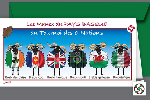 """Tournoi des six nations"" Carte panoramique"