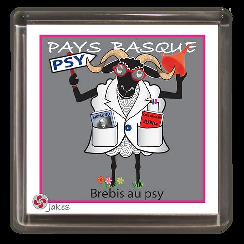 """Brebis au psy"" Magnet"
