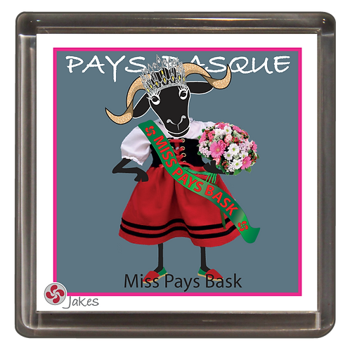 """Miss Pays Bask""  Magnet"