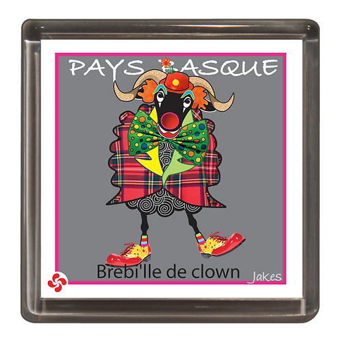 """Bre'bille de clown"" Magnet"