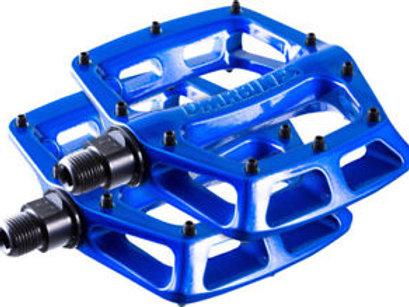 DMR V8 Flat Pedale Blau