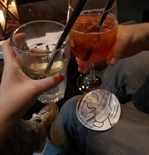 Trinken mit Freunden....