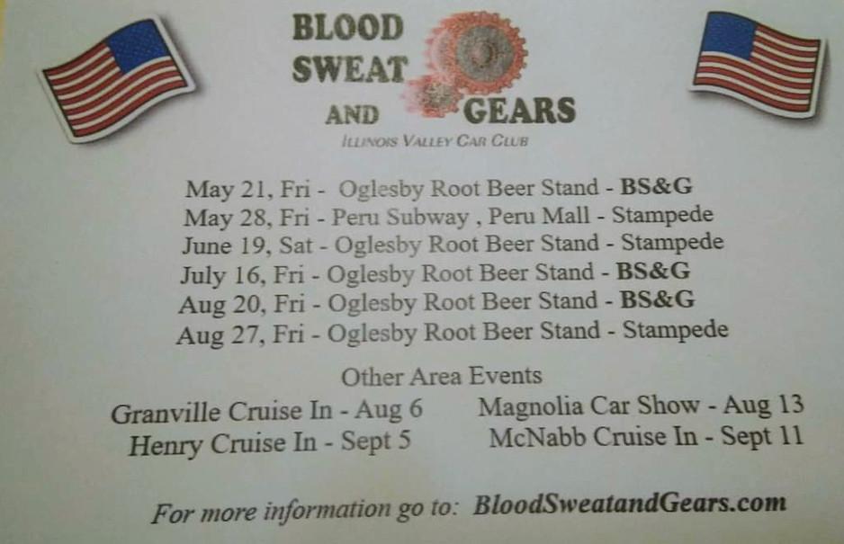 Blood Sweat & Gears Car Shows