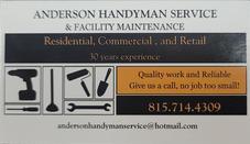 Anderson Handyman Service & Facility Maintenance