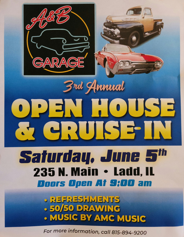 A & B Garage Open House & Cruise-in