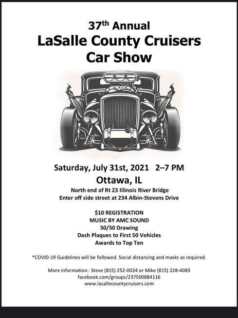 37th Annual Lasalle County Car Cruisers Car Show