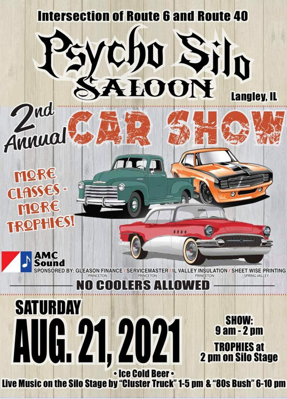 2nd Annual Psycho Silo Saloon Carshow