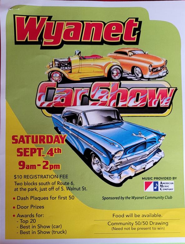 Wyanet Summerfesr Car Show