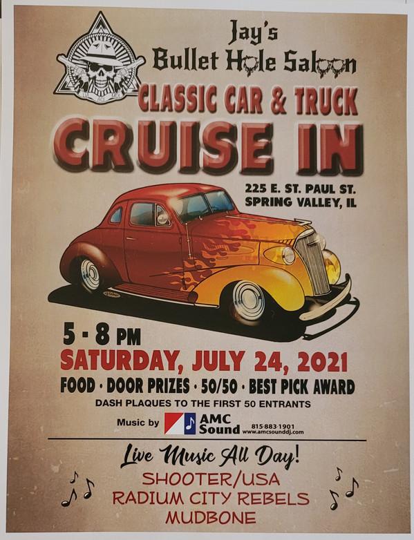 Jay's Bullet Hole Saloon Classic Car & Truck Cruise In