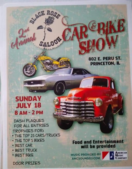 2nd Annual Black Rose Saloon Car & Bike Show