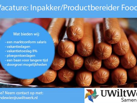 Inpakker/Productbereider Food