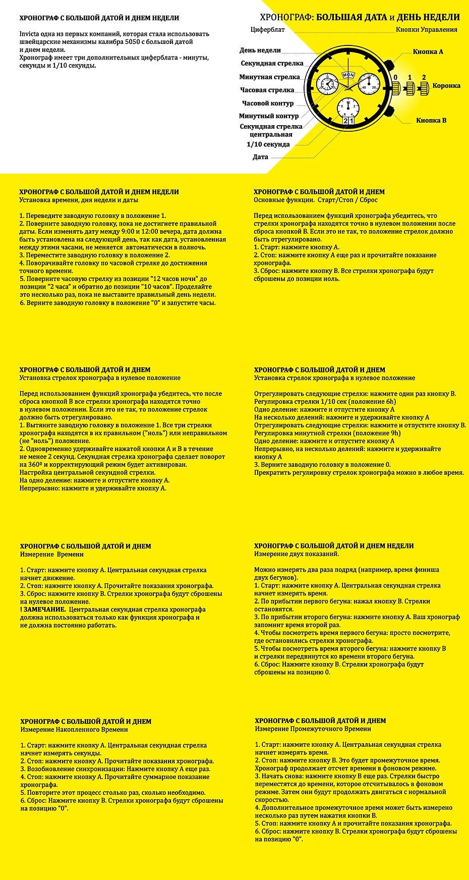 Инструкция хронограф инвикта на русском языке Invicta