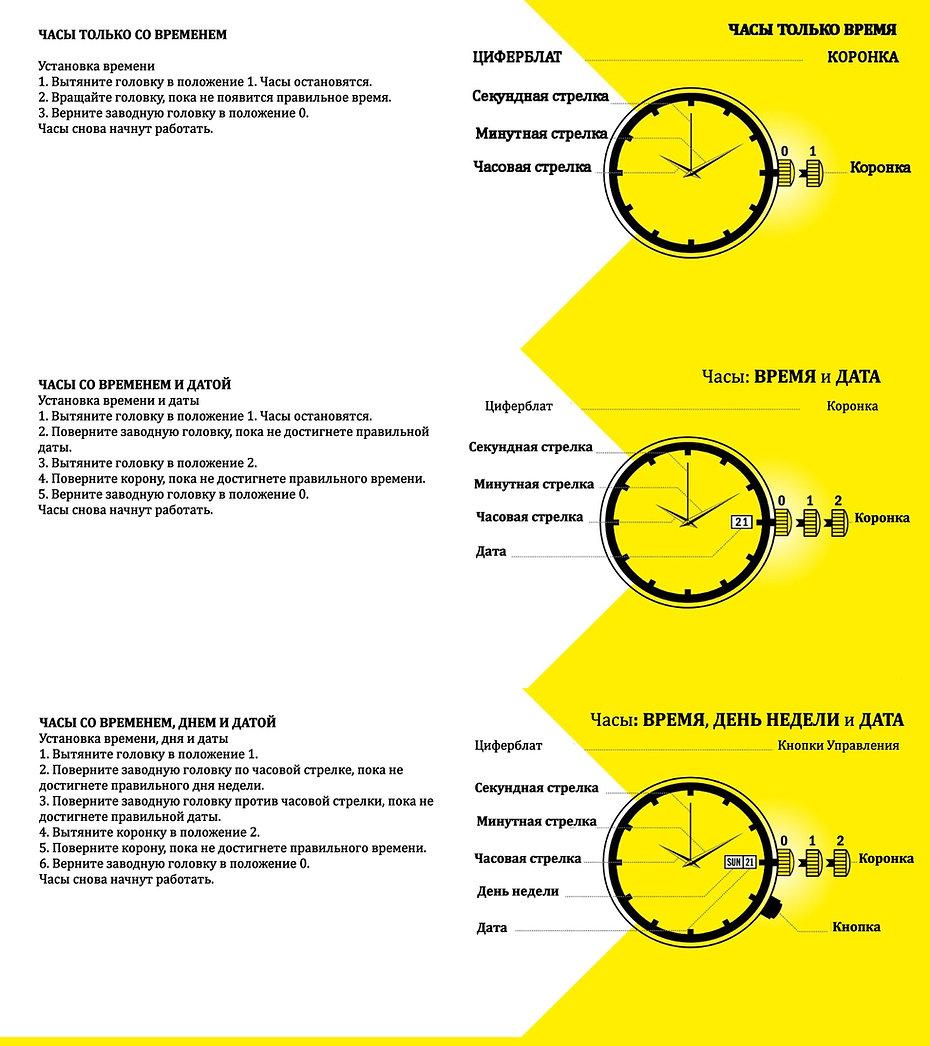 Инструкция на русском языке Invicta