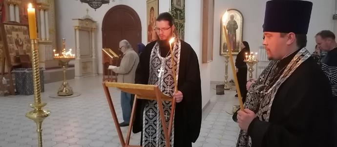 Великое повечерие с чтением Великого канона прп. Андрея Критского