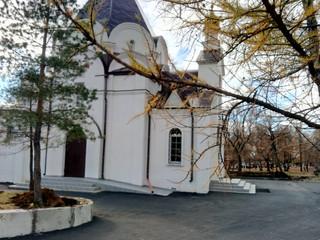 Благоустройство территории храма