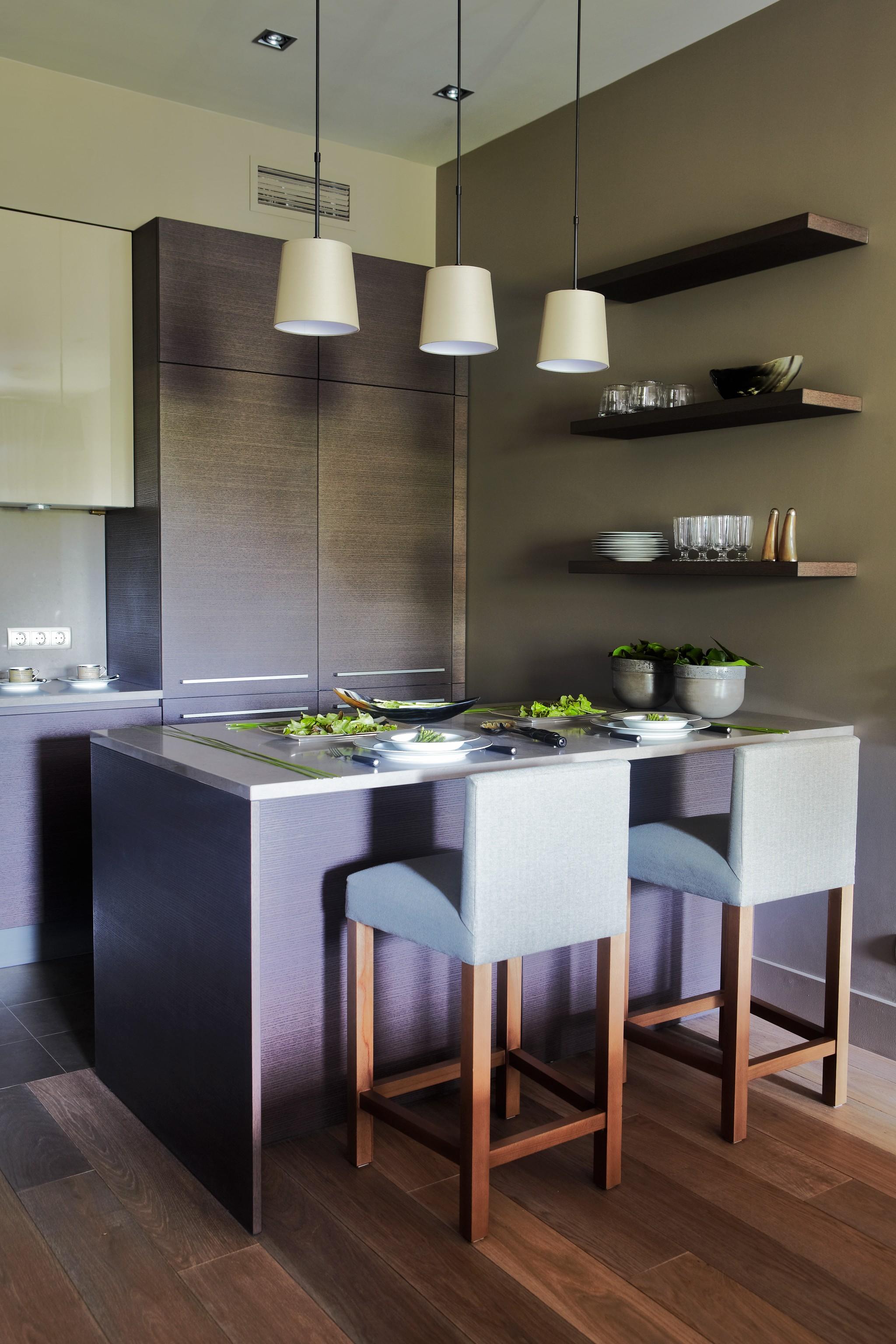 7. Кухня. Квартира в современном стиле