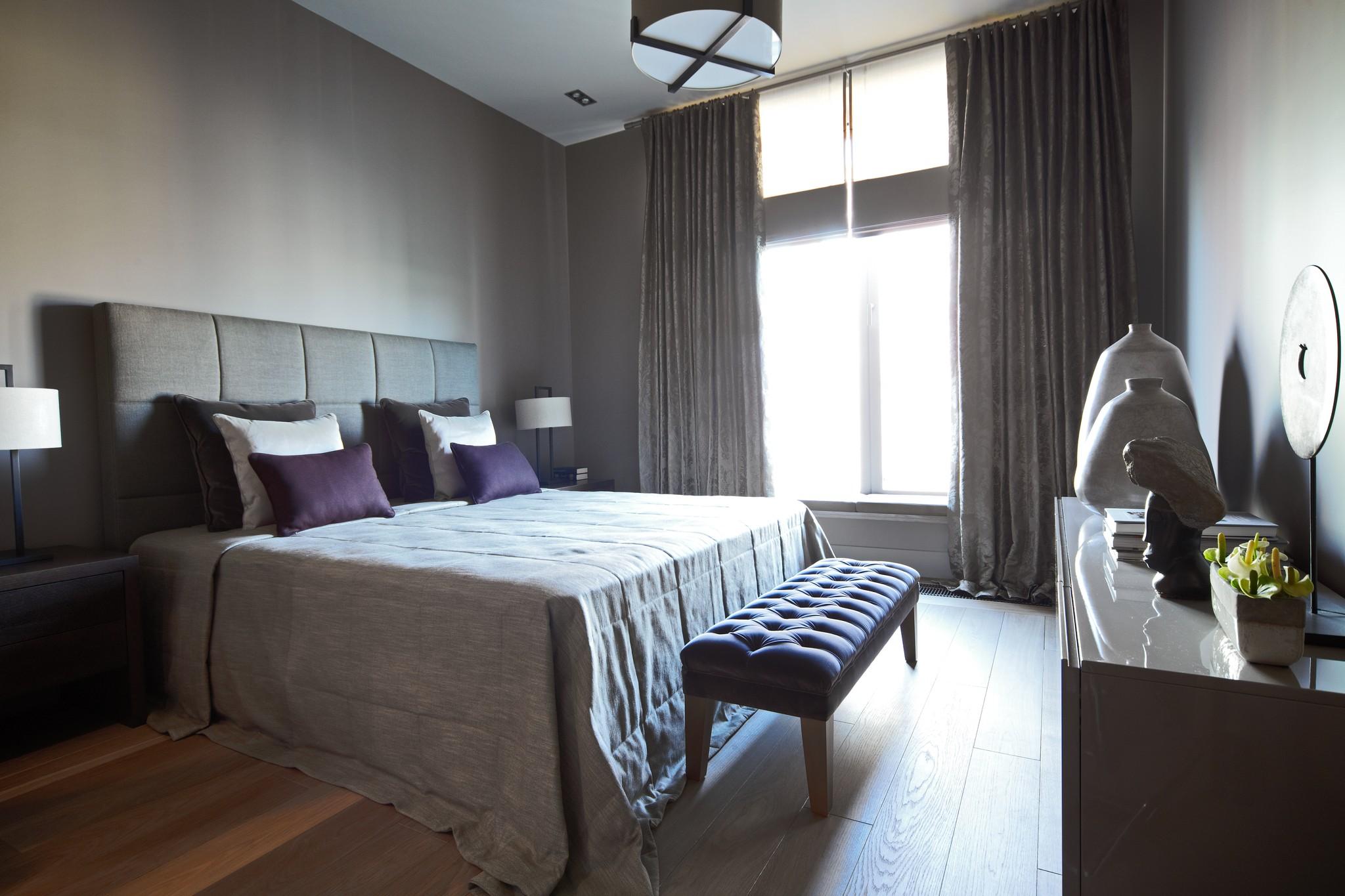 13. Спальня. Квартира в современном стиле