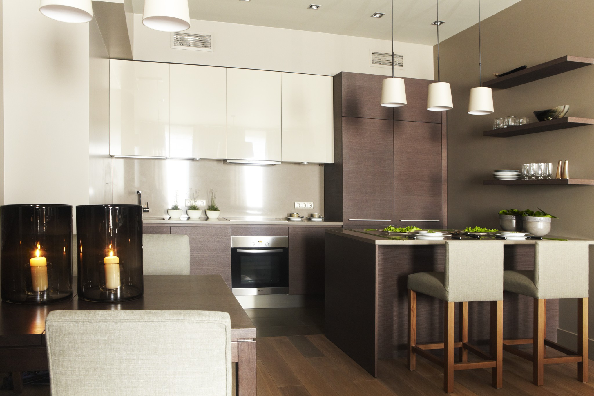 8. Кухня. Квартира в современном стиле