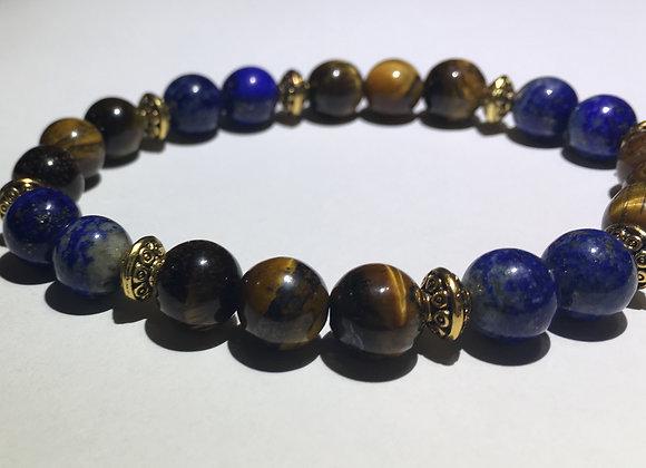 Tiger Eye + Lapis Lazuli