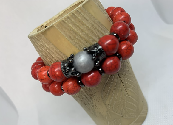 Red  Turquoise Crown Set