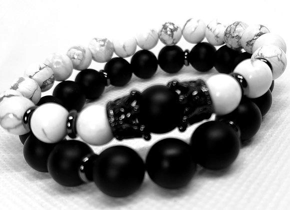 White + Black Crown Set