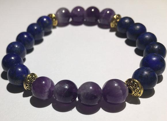 Lapis Lazuli + Amethyst