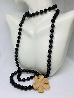 Black Obsidian Necklace and Bracelet Set