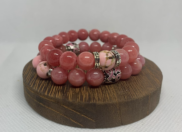 Breast Cancer Awareness Beads Set