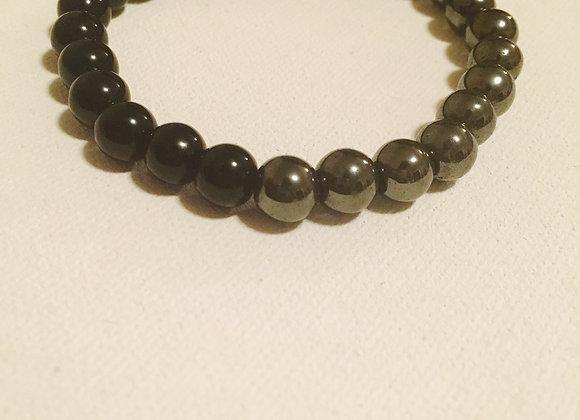 Hematite and Black Onyx Beads