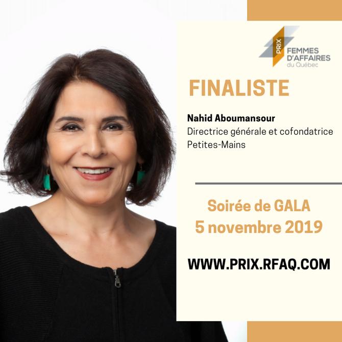 Madame Aboumansour est finaliste du prix Femmes d'affaires du Québec