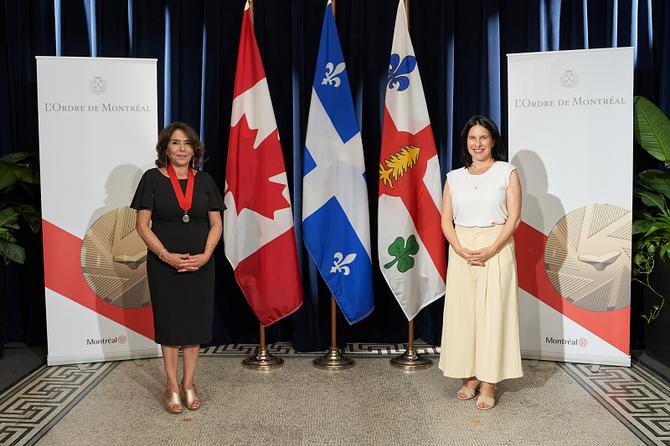 Mme Nahid Aboumansour nommée Chevalière de l'Ordre de Montréal
