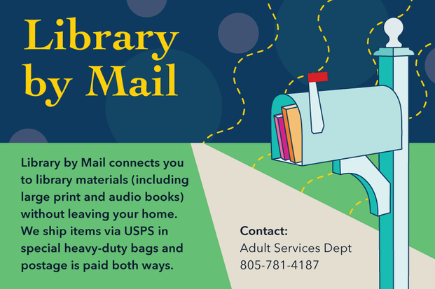 Library by Mail Postcard side 1