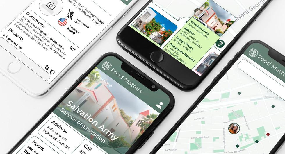 Food Matters App Interface Sample