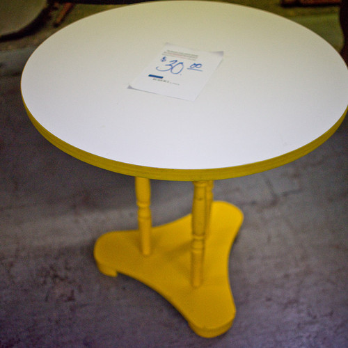 Yellow Round Table