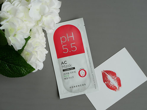 Forencos  pH5.5 Efficacy AC Mask  針對痘痘性肌膚