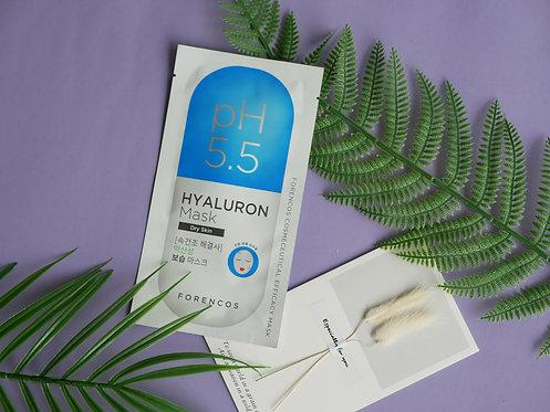 Forencos  pH5.5 Efficacy Hyaluron Mask 雙重保濕面膜